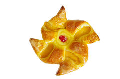 Pastry. Star-shaped pastry. Isolated on white Stock Photo