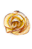 Pastry with apple shaped roses Stock Images