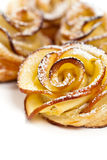 Pastry with apple shaped roses Stock Image
