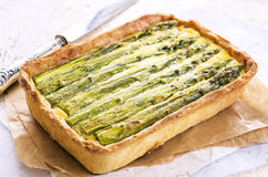 Pastry with Asparagus Royalty Free Stock Image
