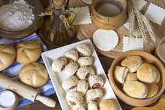 Pastry background Stock Images