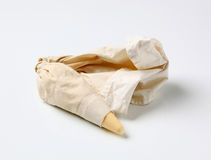Pastry bag. With plastic tip filled with cream Royalty Free Stock Photo