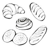 Pastry, bakery products set Stock Images