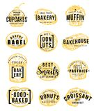 Pastry and bakery shop sketch with hand lettering. Pastry and bakery shop sketch with hand drawn lettering for dessert food label template. Sweet bread Stock Photo