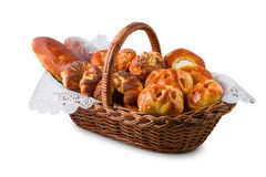 Pastry in the basket Royalty Free Stock Image