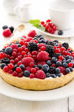 Pastry with Berries Stock Photo