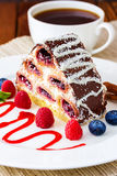 Pastry with berries Stock Image