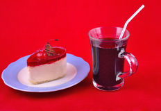 Pastry and berry drink Royalty Free Stock Image