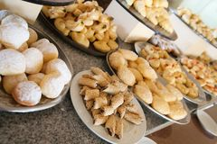 Pastry in buffet Royalty Free Stock Photo