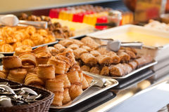 Pastry in buffet Stock Photos