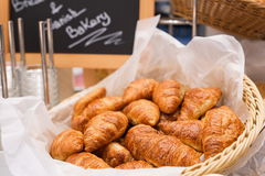 Pastry buffet croissants for brunch or breakfast in restaurant interior Stock Photos