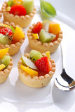 Pastry cakes with fruit Royalty Free Stock Photos