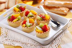 Pastry cakes with fruit Royalty Free Stock Image