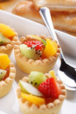 Pastry cakes with fruit Stock Image