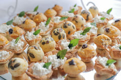 Pastry canapes Stock Photo