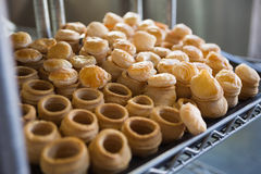 Pastry case filling of delicious pastry Royalty Free Stock Image
