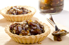 Pastry cases with home made mincemeat royalty free stock photography