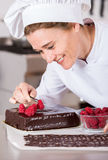 Pastry chef in the kitchen Royalty Free Stock Image