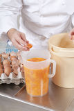 Pastry Chef prepares the ingredients Royalty Free Stock Images