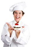 Pastry Chef with Tart Royalty Free Stock Image