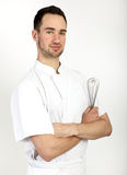 Pastry chef with whisk Royalty Free Stock Photography
