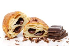 Pastry Chocolate. Chocolate pastry on white background Royalty Free Stock Image