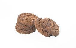 Pastry: Chocolate Chip Cookie. On white bachground Royalty Free Stock Image
