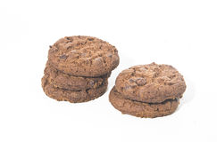 Pastry: Chocolate Chip Cookie. On white bachground Royalty Free Stock Photos