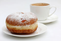Pastry and coffee cup Stock Photography