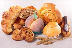 Pastry and croissant Stock Photo
