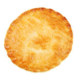 Pastry crust. Isolated on white Stock Images