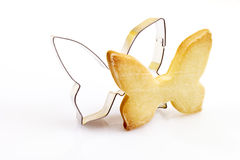 Pastry cutter, cookie, butterfly shape Royalty Free Stock Photo