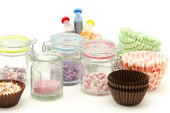 Pastry decorating Stock Images