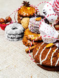Pastry with decoration Royalty Free Stock Photography