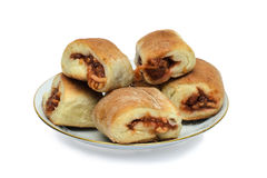 Pastry. Delicious bread rolls for Breakfast Royalty Free Stock Images