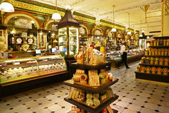 Pastry department in Harrod's store, London Royalty Free Stock Image