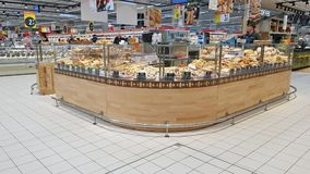 Pastry department in a supermarket Stock Photo