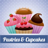 Pastry design royalty free illustration