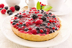Pastry with fresh Berries Stock Images