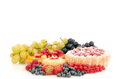 Pastry and fruit Stock Photo