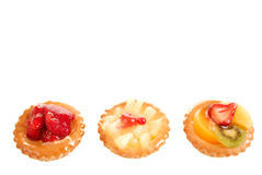 Pastry and fruit Stock Photography