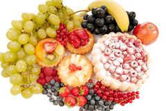 Pastry and fruit Royalty Free Stock Images