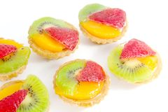 Pastry Fruit Tarts Stock Photography