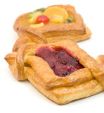Pastry with fruits and berries royalty free stock photo