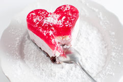 Pastry heart with jelly Royalty Free Stock Photos