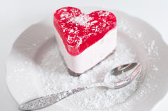 Pastry heart with jelly Stock Image