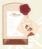 Pastry and ice cream. Menu card template Stock Images