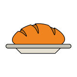 Pastry icon image. Bread loaf pastry icon image vector illustration design Stock Photo