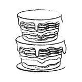 Pastry icon image. Cake with frosting pastry icon image vector illustration design Royalty Free Stock Photography