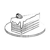 Pastry icon image. Cake with frosting pastry icon image vector illustration design Stock Photos